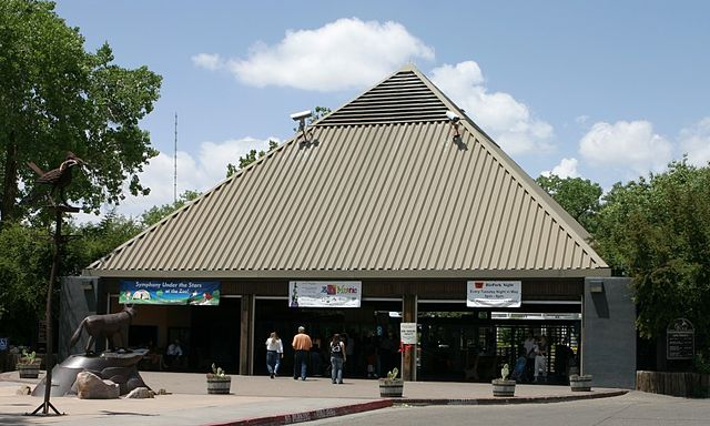 Rio Grande Zoo Main Entrance by C. Burnett